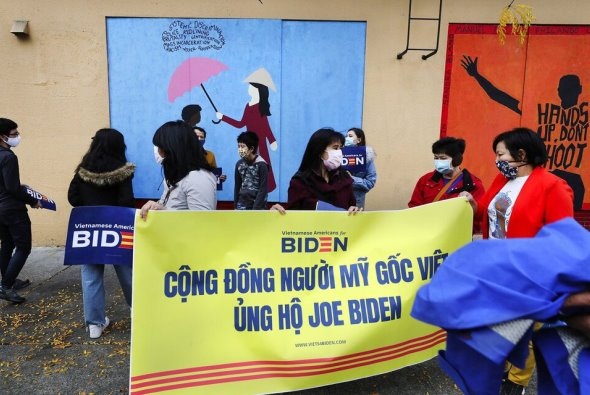 Vietnamese Americans supporters of Biden