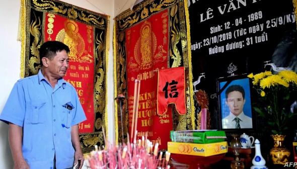 Le Minh Tuan, father of victim Le Van Ha