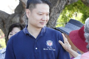 Tri Ta during his mayoral campaign