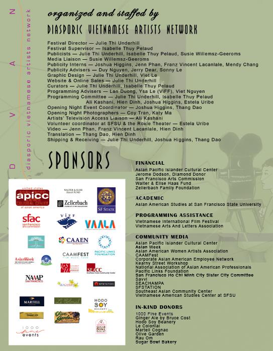 SFGFVV Staff & Sponsors