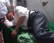 Injured Catholic protester