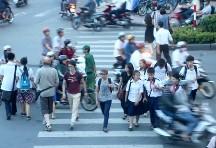 Crossing the street is dangerous in HCMC