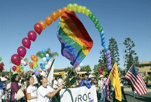 LGBT members march in Tet Parade