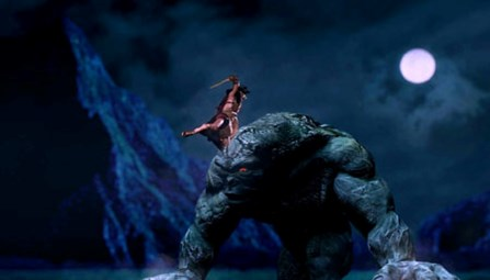 A scene of Cuoc chien voi chan tinh (Thach Sanh Legend) directed by Do Quang Hai Au, who suddenly died of a stroke in March last year while still editing his movie. Despite the imperfect visual effects such as this 3D computer-generated ogre which looks a little bit fake, Hai Au's first and last movie is solid work. Photos taken from The movie's Facebook page
