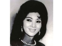 A photo of Tham Thuy Hang, the leading actress in Gion mat tu than and the big star of southern cinema before 1975.