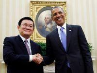 Pres. Truong Tan Sang and Barrack Obama