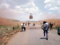 South Vietnamese fleeing