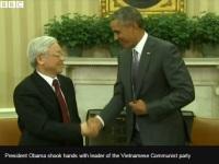 Nguyen Phu Trong and Barrack Obama