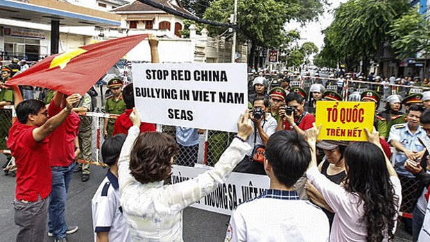 Vietnamese protests against Chinese bullying