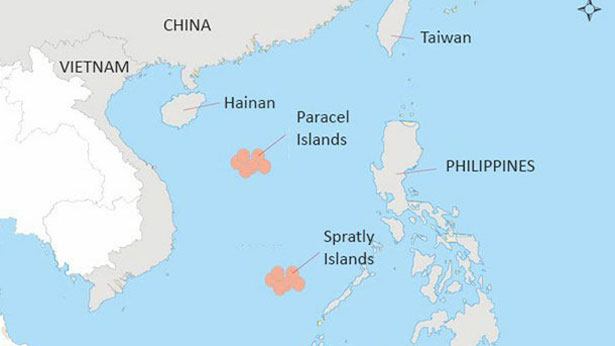 Area of conflict in East Sea